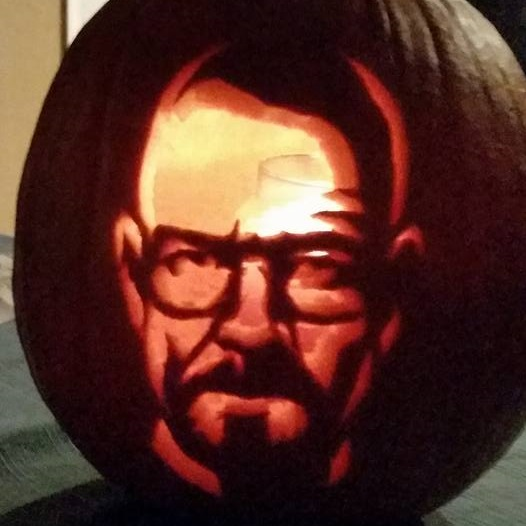 Walter White Breaking Bad pumpkin
