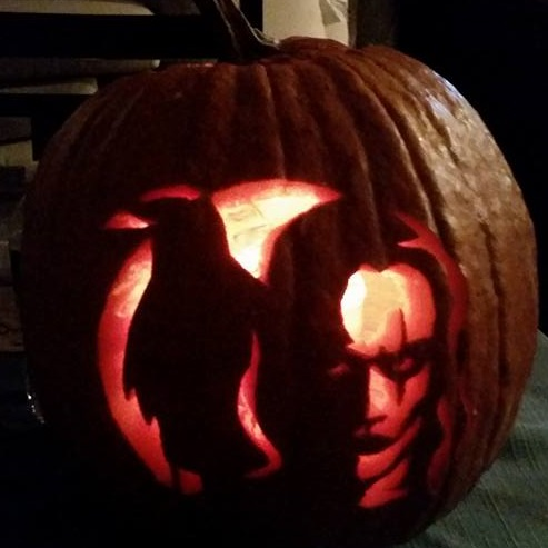 Brandon Lee The Crow pumpkin