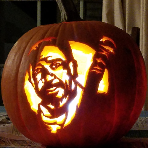 Negan The Walking Dead pumpkin