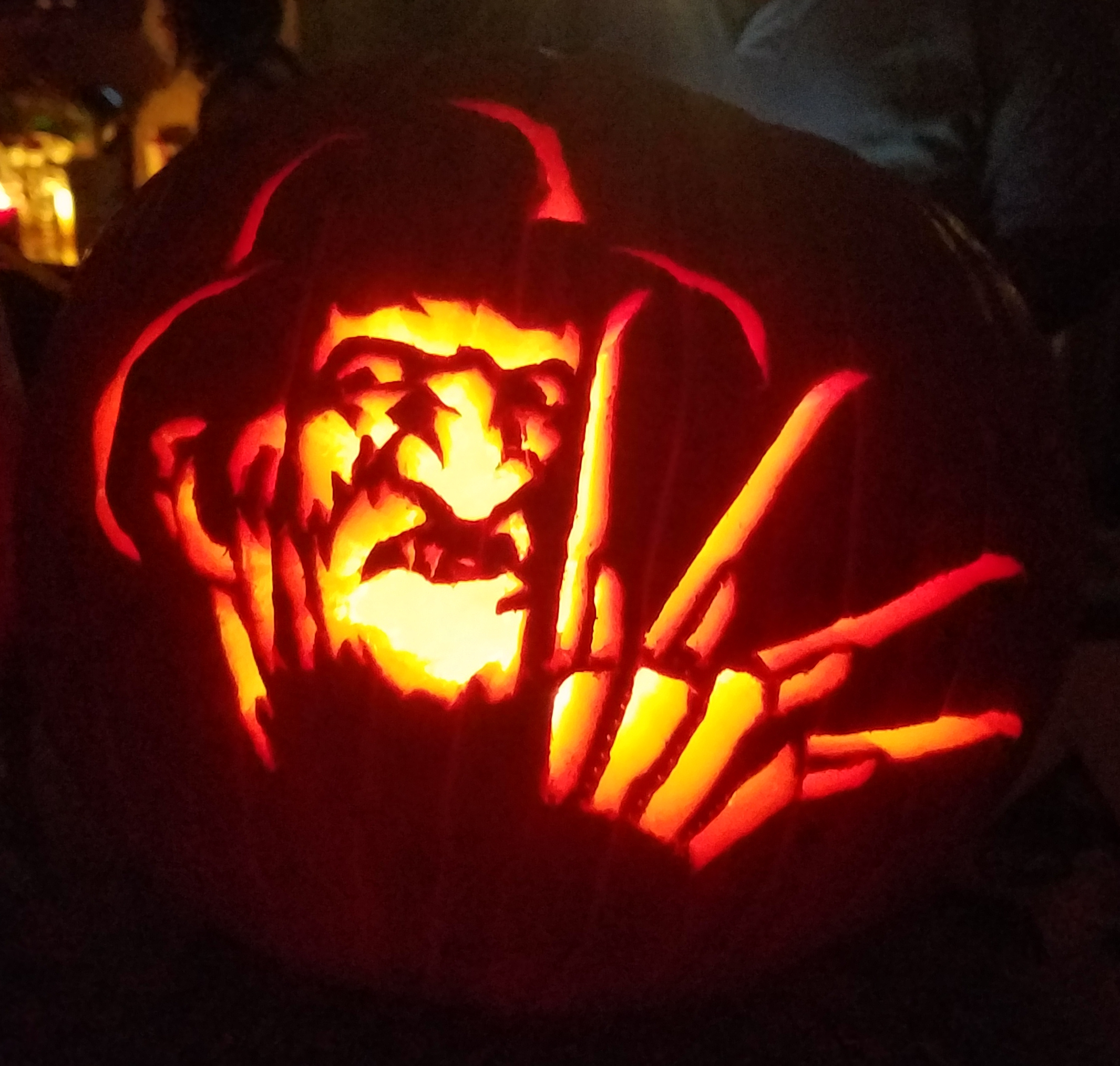 Freddy Krueger A Nightmare On Elm Street pumpkin